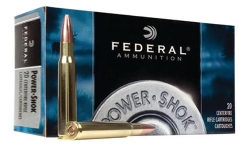 Federal Power-Shok 22-250 Remington Soft Point 55gr, 20Box/10Case