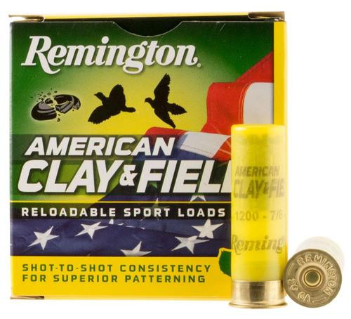 "Remington American Clay & Field Sport Loads 20 Ga, 2.75"", 7/8 oz, 8 Shot, 25rd/Box"