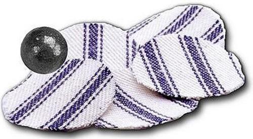 Thompson Center Pillow Ticking Roundball Patches .45/.50 Cotton Fabric