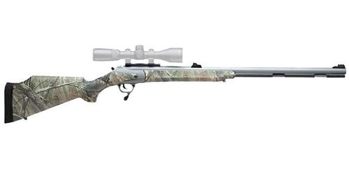 "Thompson Center Bone Collector Muzzleloader .50 Caliber 28"" Fluted Barrel Silver Weather Shield Finish Composite Stock RealTree AP Camouflage Finish"