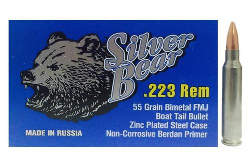 Silver Bear .223 Rem, 55gr, FMJ, 20rd Box