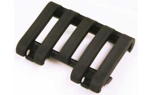 Blackhawk! Low Profile Rail Cover, Black, Wire Loom Rubber, Picatinny, 5 Slot