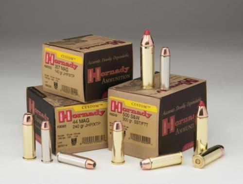 Hornady Custom .44 Remington Magnum 240gr, Jacketed Hollow Point, XTP, 20rd Box