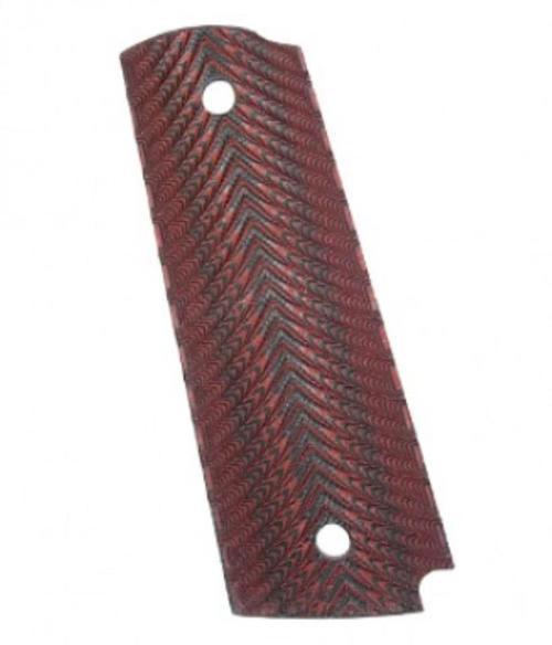 Kimber G10 Herringbone red/black full-size (for Custom & Pro 1911 models) magazine well
