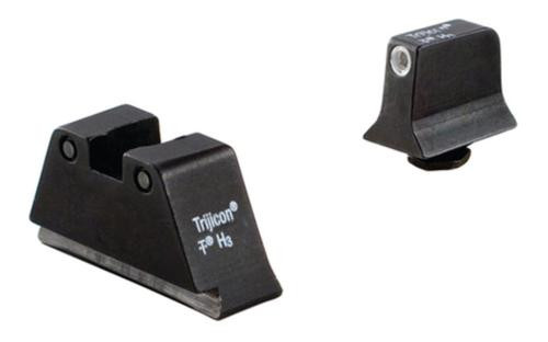 Trijicon Glock Suppressor Night Sight Set White Front/Black Rear with Green Lamps for Glock 17/17L/19/22/23/24/25/26/27/28/31/32/33/34/35/37/38/39