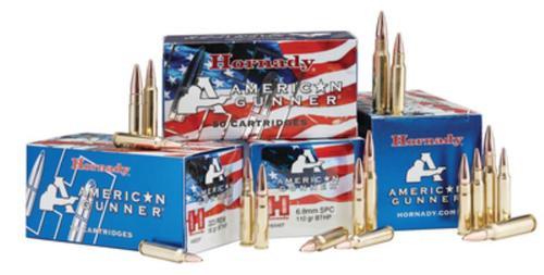 Hornady American Gunner 6.8mm SPC 110 Grain Boattail Hollow Point Match, 50rd/Box