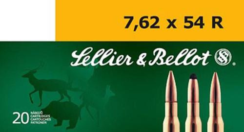 Sellier & Bellot Rifle Training 7.62x54mm Russian FMJ 180 gr, 20Box/2