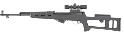 Advanced Technology SKS Fiberforce Dragunov Stock Polymer Matte Black