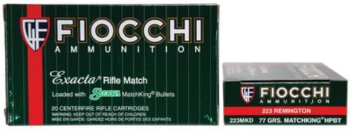 Fiocchi Exacta Rifle Match .223 Rem 77gr, Sierra Match King, 20rd Box