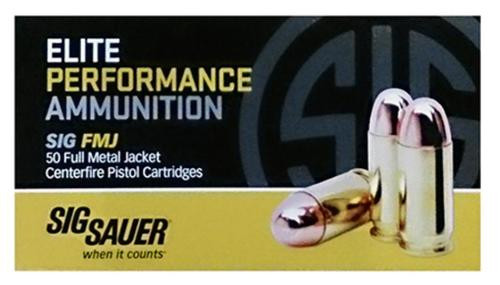 Sig Ammo 45Auto 230Gr Elite Ball FMJ 50rd Box