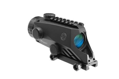 Sig Bravo4 Prismatic Sight 4X30mm 300 Blackout Horseshoe DOT Illum Reticle 0.5 MOA Adjustable Graphite