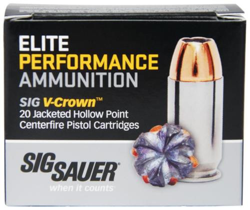 Sig Elite Performance V-Crown 40 SW 165gr, Jacketed Hollow Point, 50rd Box