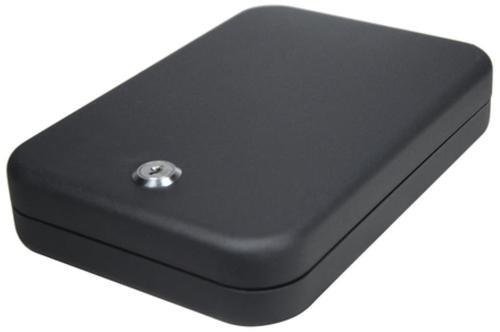 SnapSafe Lock Box Key Entry Black Steel Holds 1 Handgun Large