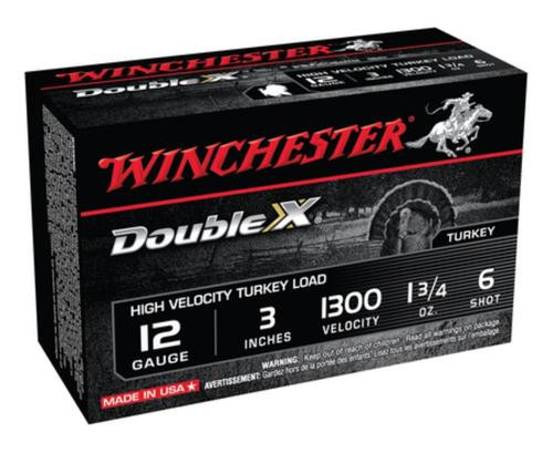 "Winchester Ammunition, Double X High Velocity, Turkey, 12 Gauge, 3"", #6, 1.75oz, 10rd Box"
