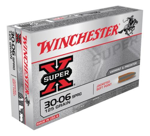 Winchester Super-X 30-06 Spg Pointed Soft Point 125gr, 20rd Box