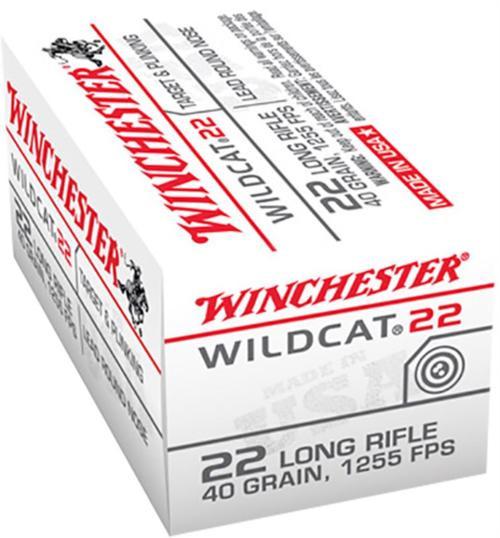 Winchester 22LR Wildcat, 40 Gr, Round Nose, 50rd Box
