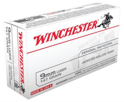 Winchester 9mm, 147 Gr, JHP, 50rd Box