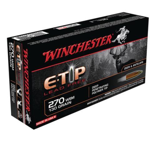 Winchester E-Tip Lead-Free .270 Winchester Short Magnum 130 Grain E-Tip Lead Free