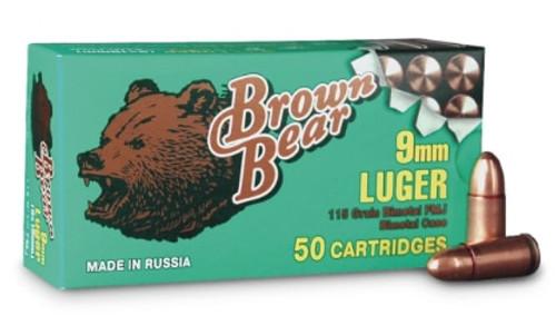 Brown Bear 9mm 115gr, FMJ, 50rd Box