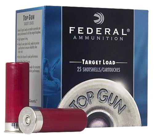 "Federal Top Gun Target 12 Ga, 2.75"", 1-1/8oz, 8 Shot, 1200fps, 25rd/Box"