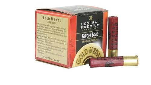 "Federal Comp Gold Medal Plastic 28 Ga, 2.75"", 3/4oz, 8.5 Shot, 25rd/Box"
