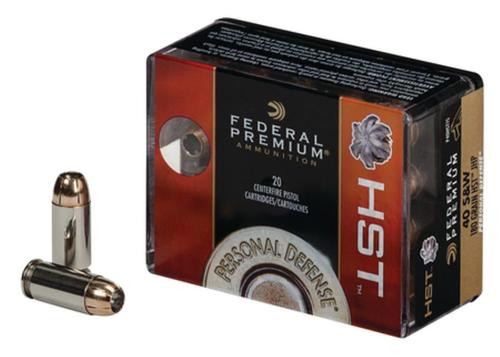 Federal HST Personal Defense .40 S&W 180gr, Jacketed Hollow Point 20rd Box