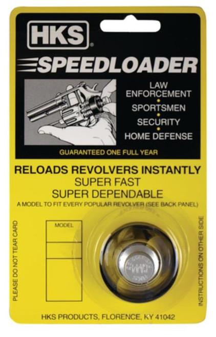 HKS Speedloader Revolver 38/357 6rd Colt Python Black Metal