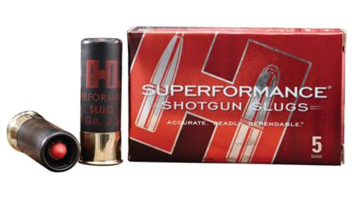 Hornady Superformance MonoFlex Slug 20 Gauge 2.75 Inch 1800 FPS 250gr, 5 Per Box For Use With Rifled Barrel