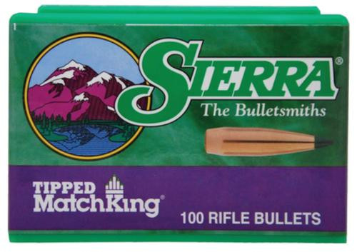 Sierra Bullets Match High Velocity .224 Diameter 69 Grain Tipped Match King 100 Per Box