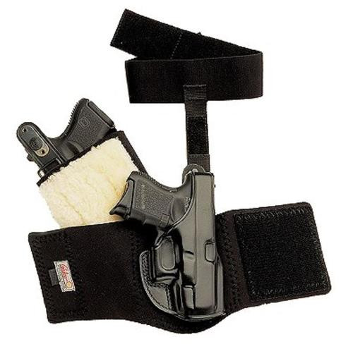 Galco Ankle Glove Glock 26, CT Laser, Black