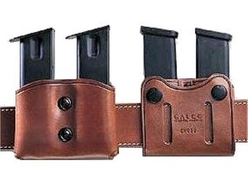 """Galco DMC Double Mag 357/9/40 Staggered, Belt Width 1-1.75"""", Black Leather"""