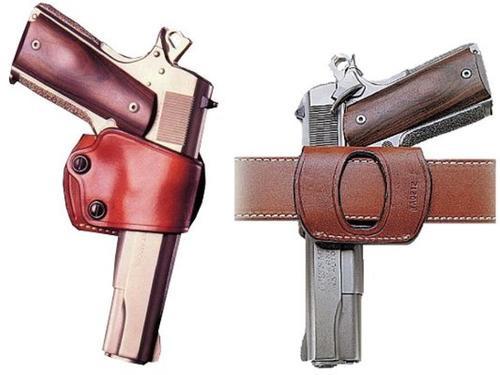 "Galco Yaqui Slide RH 1911 5"" Colt; Kimber; Para; Spring Steerhide Black"