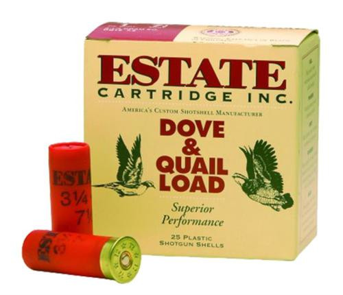 "Estate Upland Hunting 12 Ga, 2.75"", 1-1/8oz, 8 Shot, 25rd/Box"