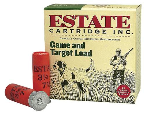 "Estate Game and Target 12 Ga, 2.75"", 1oz, 8 Shot, 25rd/Box"