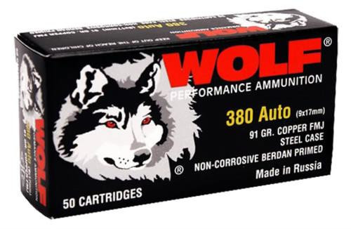 Wolf 9mm, 115 Gr, FMJ, Steel Case, 800rd/Case, Can
