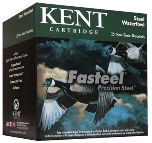 """Kent Fasteel 12 Ga, 3.5"""", 1 9/16oz, BBB Shot, 25rd/Box"""