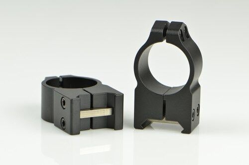 Warne 1 Inch, PA, High Matte Rings, Steel, Fixed for Maxima/Weaver Style or Picatinny Bases