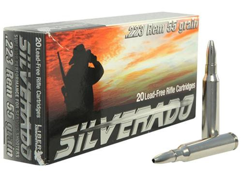 Liberty Ammo Silverado . Rem 55gr, LF Fragmenting, Boat-tail Hollow Point, 20rd Box, 50rd Box