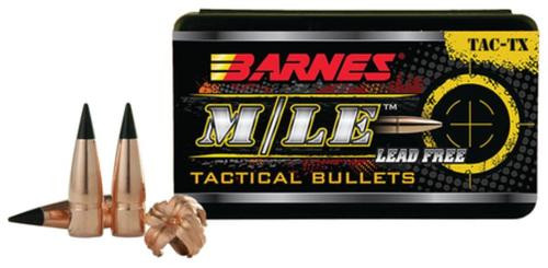 Barnes Ammunition Tipped Tac-TX Bullets Lead Free 6.5mm Caliber.264 Diameter 120 Grain Boattail