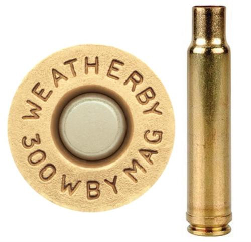 Weatherby Unprimed Brass 300 Weatherby Magnum Lightweight 20 Per Box