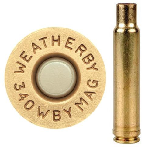 Weatherby Unprimed Brass 340 Weatherby Magnum Lightweight 20 Per Box