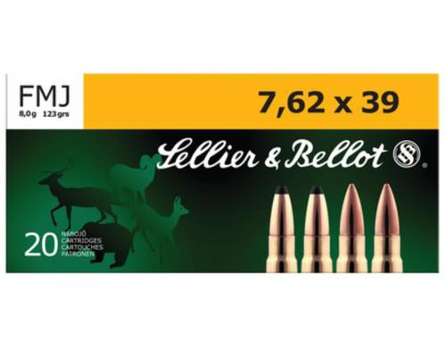 Sellier and Bellot 762X39 123 FMJ 20Rd/Box