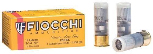 "Fiocchi Ammunition, Aero Slug, 12 Ga 2.75"", Slug, Low Recoil, 10rd Box"