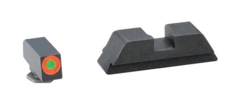 AmeriGlo Hackathorn Night Set For Glock 43 Orange Outline Front Black Rear