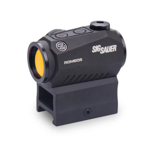 Sig Romeo5 Compact Red Dot Sight 1X20mm, 2 MOA, 0.5 MOA Adj, M1913, Black