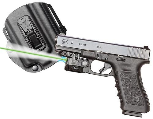 Viridian Weapon Technologies, C5L, Green Laser and Tactical Light, For Glock 17/19/22/23, Includes TacLoc Holster