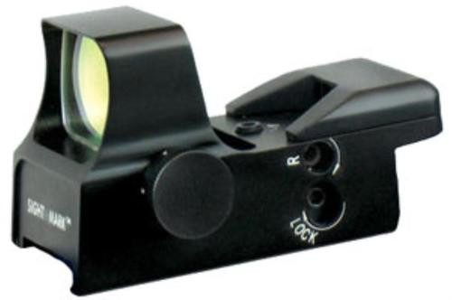 Sightmark Ultra Shot 1x 34x25mm Obj, Unlimited Relief, 65/3/10 Dot, CH 3Dot, Black