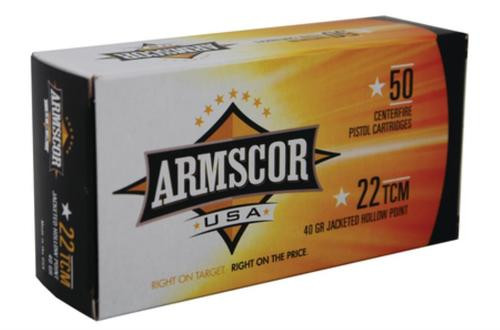 Armscor .22 TCM 40gr, JHP, 50rd Box