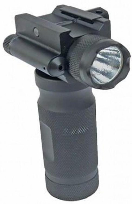 Sun Optics Tactical Forend Grip, 250 Lumen Light /Green Laser