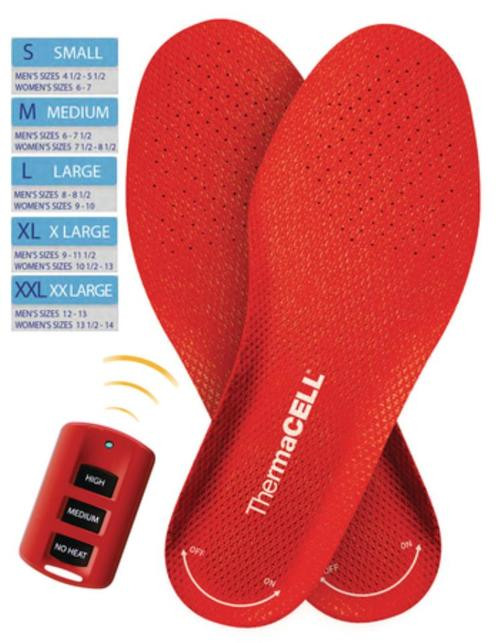Thermacell Rechargeable Heated Insoles Size Extra-Large